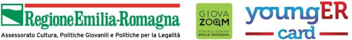 loghi regione emilia romagna, giova zoom e younger card