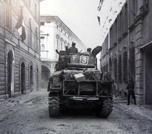 una foto della liberazione di Cesena