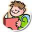 icona bimbo che legge