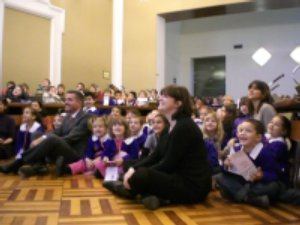il sindaco e bambini