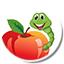 icona bruco su mela