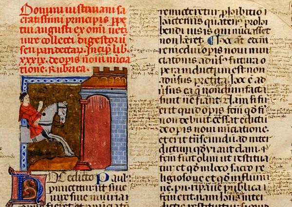 S.IV.2 Giustiniano, Infortiatum cum apparatu Accursii