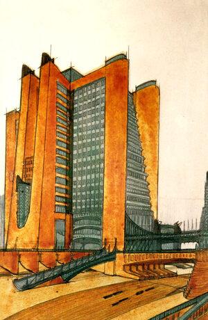 quadro futurista la città nuova